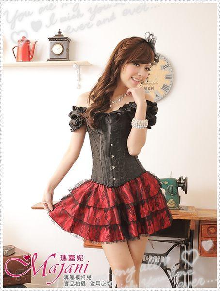 [瑪嘉妮Majani]日系中大尺碼-甜美澎澎裙 襯裙 搭配馬甲 長版衣 內搭 E款(紅色)特價329 可超取