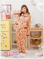 [瑪嘉妮Majani]中大尺碼- 中厚款 水貂絨居家服 2件套 褲裝 睡衣 舒適 寬鬆 有特大碼 特690 lp-054 0
