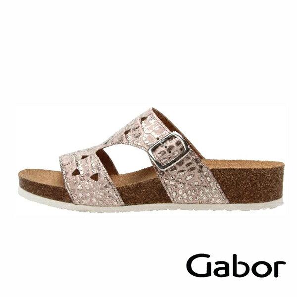 【GABOR 單一降價 │全店免運】GABOR  三角簍空T字型扣環涼拖鞋 粉 0