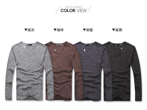 ☆BOY-2☆ 【PPK86009】韓版素面針織V領長袖T恤 2