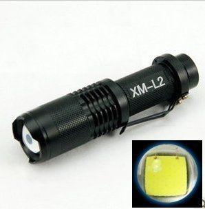 破盤大促銷 XM-L2聚焦 掌心雷手電筒 超亮 全配(1200流明)LED手電筒18650電池 小鋼炮