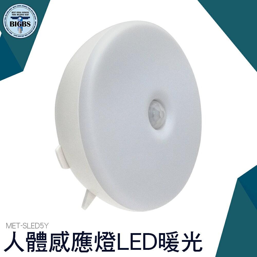 儀表量具 人體感應燈LED小夜燈 家用 暖光 自動光控樓道走廊壁燈 SLED5Y