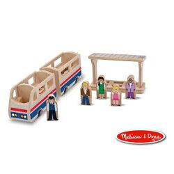 美國瑪莉莎 Melissa & Doug 木製小人國 火車列台