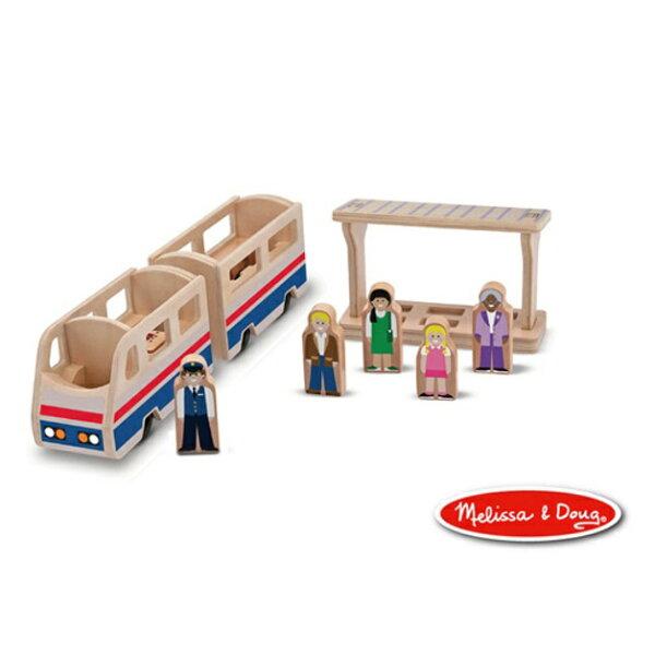 美國瑪莉莎Melissa&Doug木製小人國火車列台【寶貝樂園】