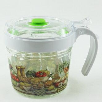 【珍昕】Quasi 歐風時尚玻璃密封調味罐 (200ml / 93x125x86mm) 隨機花色