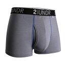 2UNDR【SWING SHIFT】男性內著 GREY BLUE (3吋)