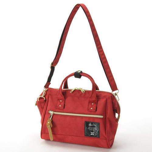 anello 紅磚色 小側背手提兩用包 日本帶回正版 帆布水洗 A5放的下! AT-H0851