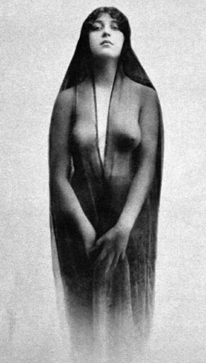 Nude In Sheer Clothing NCaloma Nude Study 1914 By An Unidentified American Photographer Poster Print by (24 x 36) 760d6044ea949ade5ff6a872eed392b6