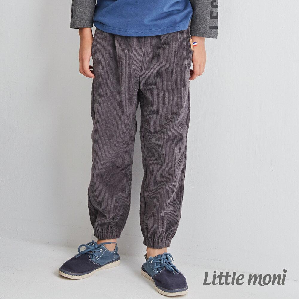 Little moni燈心絨束口長褲 -灰色(好窩生活節) 1