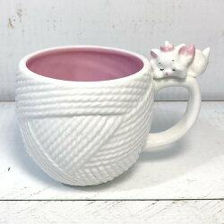 大賀屋 瑪莉貓 茶杯 馬克杯 杯子 陶瓷杯 毛線球 杯 下午茶 禮品 迪士尼 日貨 正版 授權 L00010672