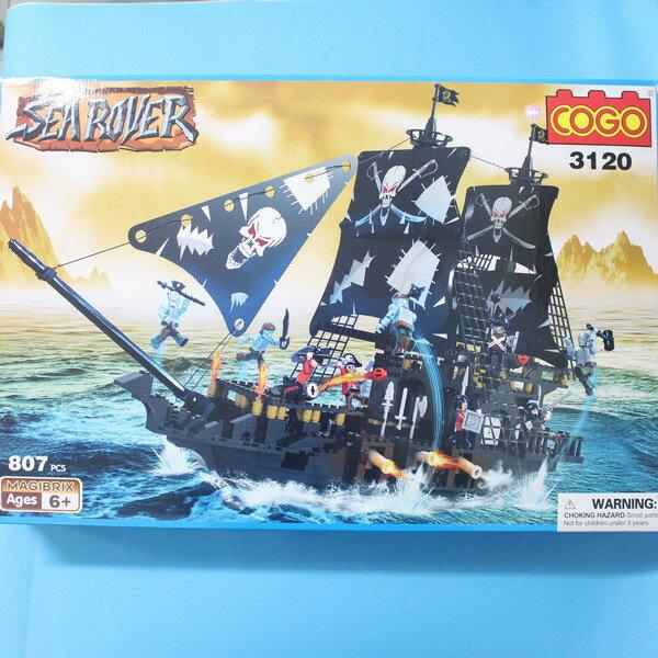 COGO 積高積木 3120 海盜船積木 CF120869 (大) 約807片入/一盒入{促1500}~可與樂高混拼喔~