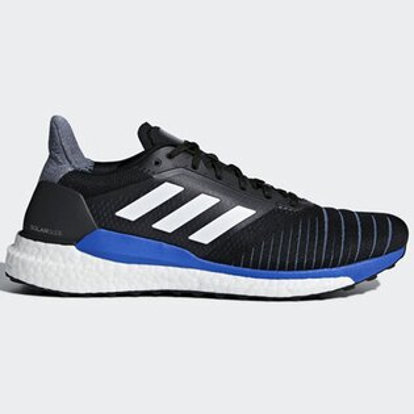 ADIDASSOLARGLIDE男鞋慢跑編織緩衝透氣BOOST黑藍白【運動世界】CQ3175