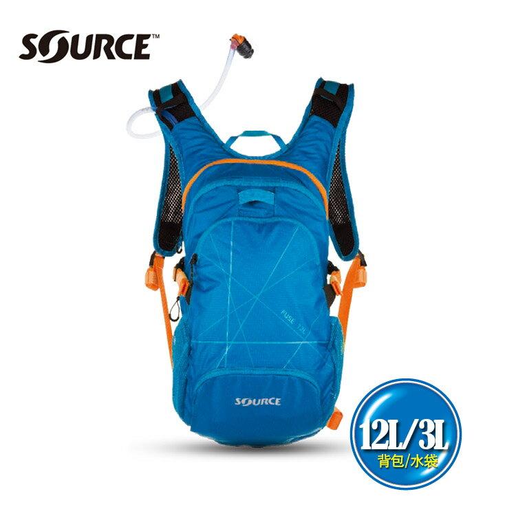 以色列SOURCE 戶外健行水袋背包Fuse2051926903~淺藍~12L3L   城市綠洲  自行車.登山