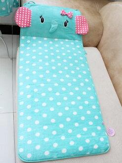 *GuoQu* 可愛卡通大象兒童床墊 薄荷小象波點 / 地墊/ 踩腳墊/ 爬行墊/ 創意塌塌米地墊/ 瑜伽墊/ 床前墊