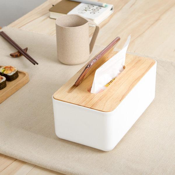 簡約 橡木蓋 手機架 面紙盒 抽取式 面紙 餐巾紙 衛生紙 盒 收納 置物 居家 iphone【RS617】