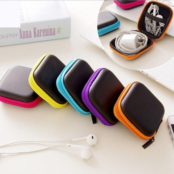 耳機收納包 方形數碼包 手機充電器數據線收納包 迷你便攜防壓 方形耳機收納盒【RS566】