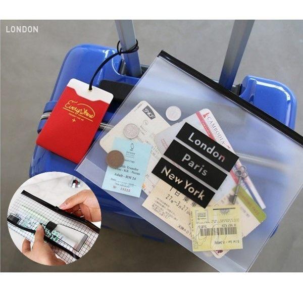 韓國 SAFEBET 出國必備透明夾鏈袋 機票護照外幣盥洗用具牙膏牙刷【RB405】