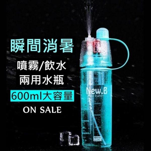 噴霧水瓶 隨身瓶 慢跑健身 水壺 噴霧式飲料杯 冷水壺 水瓶 my bottle~RS37