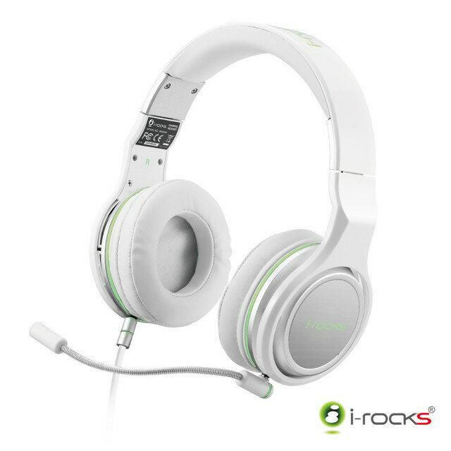【迪特軍】i-Rocks【IH05】電競耳機 電腦耳機 白 專為電競遊戲設計調製的音質 左右雙線孔設計 兩段式音源設計