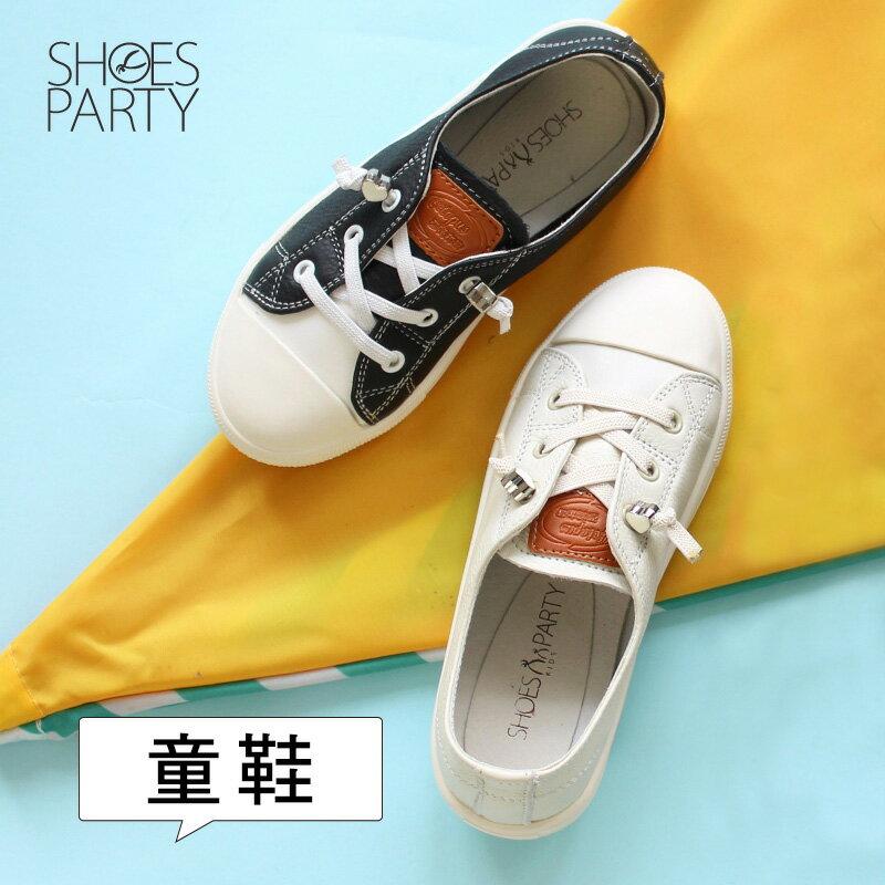 童鞋【FK-18203L】內建鬆緊帶,軟牛皮愛心結休閒鞋_Shoes Party 0