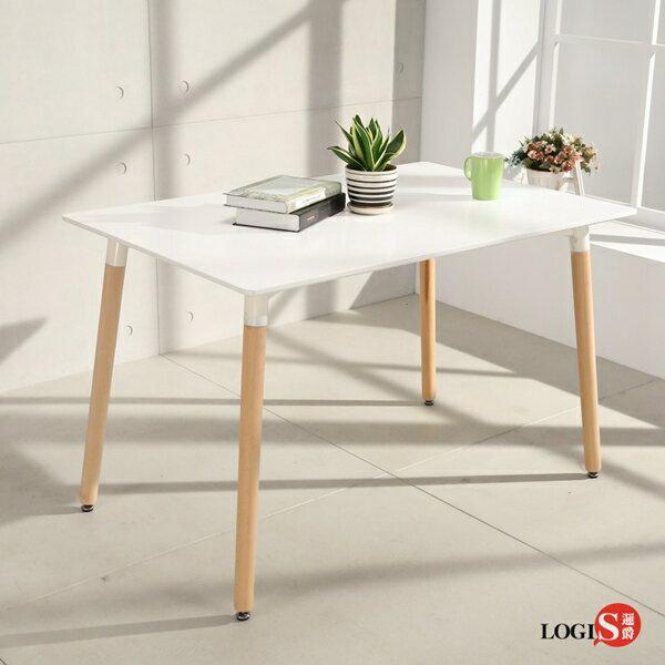LOGIS邏爵-自然簡約北歐寬80cm餐桌長桌工作桌書桌休閒桌T12080W