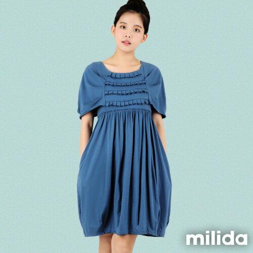 【Milida,全店七折免運】-春夏商品-甜美款-公主袖洋裝 0