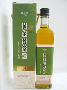 百年堂~冷壓黃金苦茶油500ml/罐