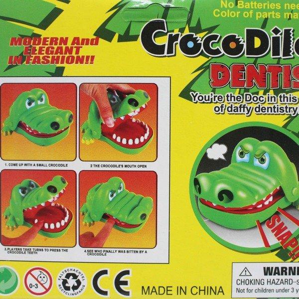 鱷魚拔牙齒 828 瘋狂鱷魚咬咬樂(大) / 一個入(促90) 咬人鱷魚 整人玩具 桌遊-創F-T828 2