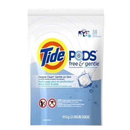 Tide汰漬三合一洗衣凝膠球洗衣球無香料38顆包◆德瑞健康家◆