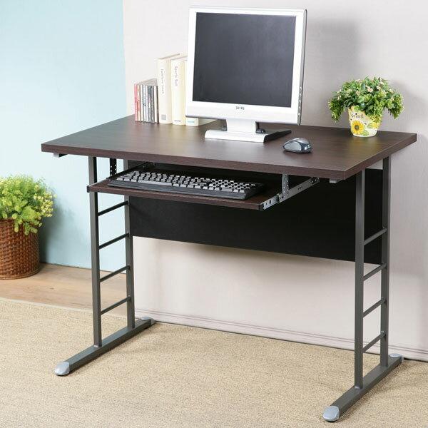 電腦桌 書桌 工作桌 辦公桌《YoStyle》馬克100cm辦公桌-加厚桌面(附鍵盤架)(二色可選)
