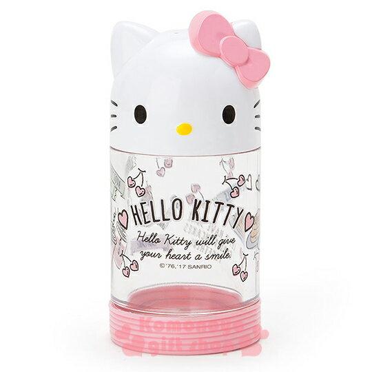 〔小禮堂〕Hello Kitty 造型醬油罐《粉.大臉.愛心.鬆餅.90ml》新生活系列