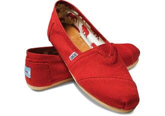 ★下殺特賣990均一價★07/28 15:00準時開搶【TOMS】紅色素面基本款休閒鞋 Red Canvas Women\