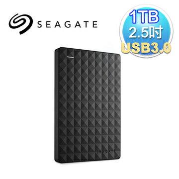Seagate 希捷 新黑鑽 1TB 2.5吋 USB3.0 外接式硬碟(STEA1000400)(7636490063428) 【可分期】【首購滿699送100點(1點=1元)‧全家取貨再送義美布丁..