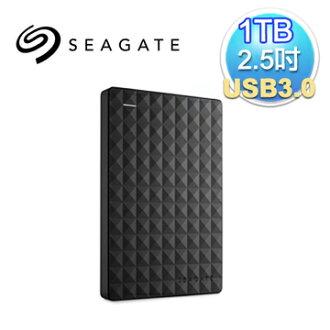 Seagate 希捷 新黑鑽 1TB 2.5吋 USB3.0 外接式硬碟(STEA1000400)(7636490063428) 【全站點數 9 倍送‧消費滿$999 再抽百萬點】