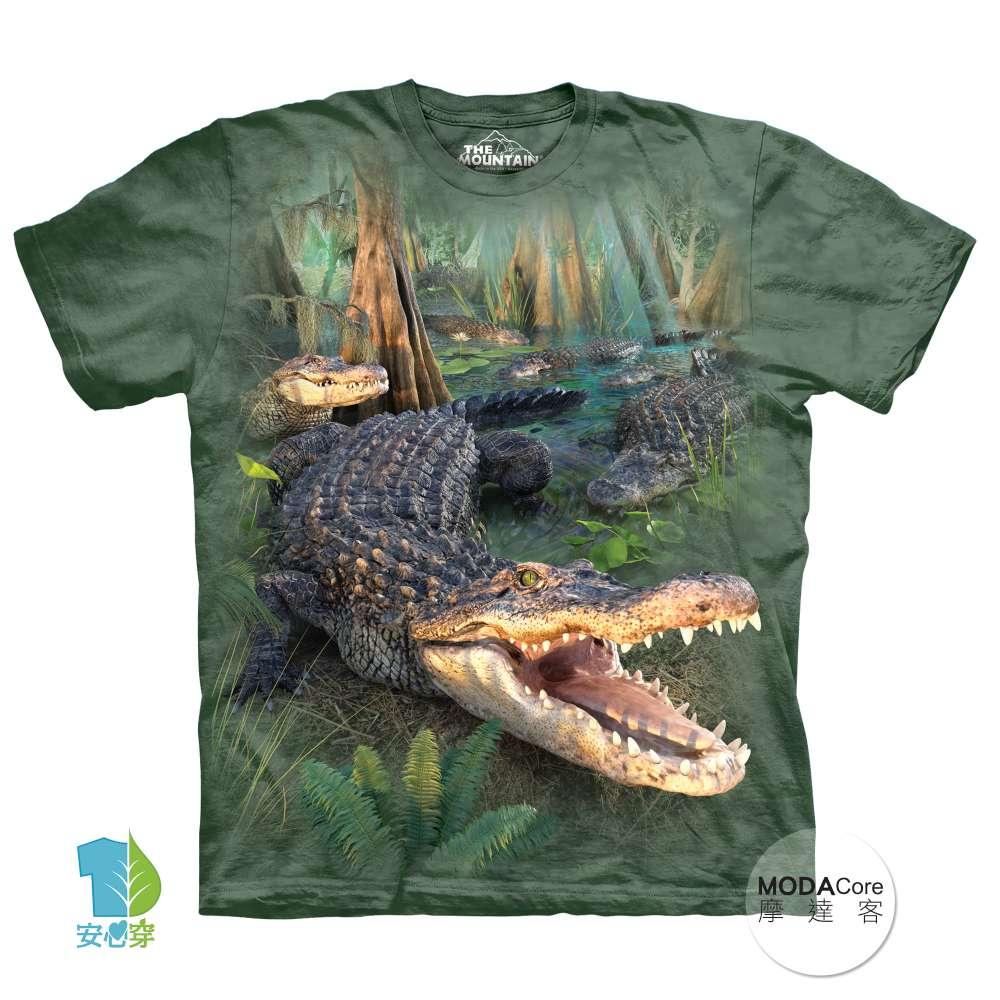 【摩達客】(預購) 美國進口The Mountain 大鱷魚 純棉環保短袖T恤