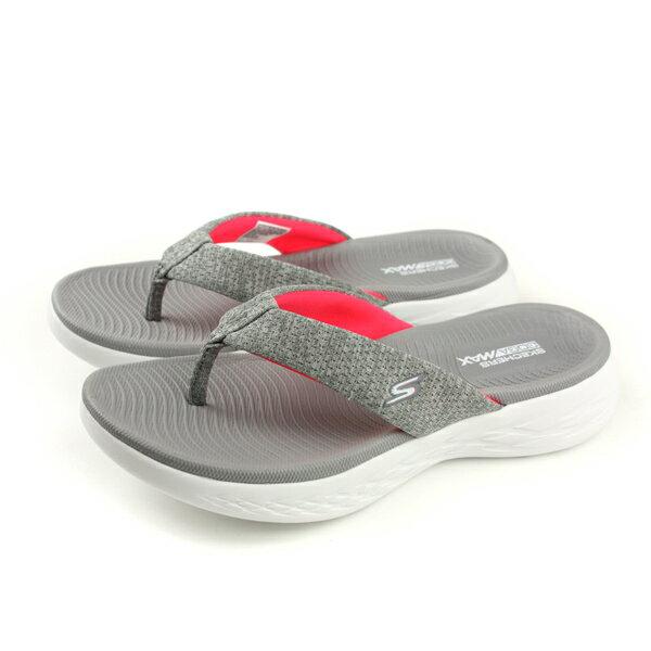 SKECHERSON-THE-GOSANDALS夾腳拖鞋人字拖灰色15304GYPKno827