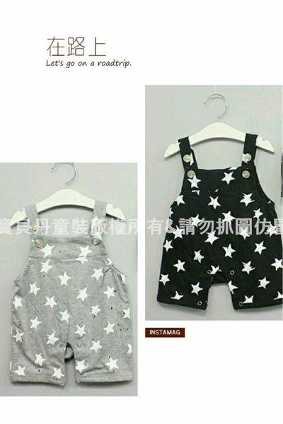 ☆╮寶貝丹童裝╭☆ 男女寶寶 可愛 星星 圖案 長袖 美式連身衣 吊帶連身裝 吊帶褲 新款 現貨