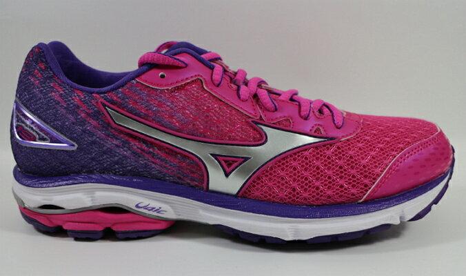 美津濃 MIZUNO RIDER 19 女款 (寬楦) 慢跑鞋 路跑 馬拉松 運動鞋  J1GD160603 贈運動襪[陽光樂活]