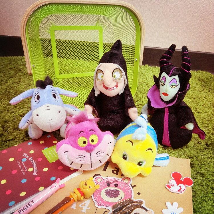 PGS7 日本迪士尼系列商品 - 迪士尼 顆粒 娃娃 絨毛公仔 玩偶 屹兒 妙妙貓 小比目魚 黑魔女【SJJ6151】