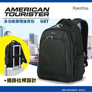 2018新款59折推薦新秀麗AmericanTourister美國旅行者多功能後背包15.6吋筆記型電腦包平板收納包68T寬版背帶可插掛拉桿