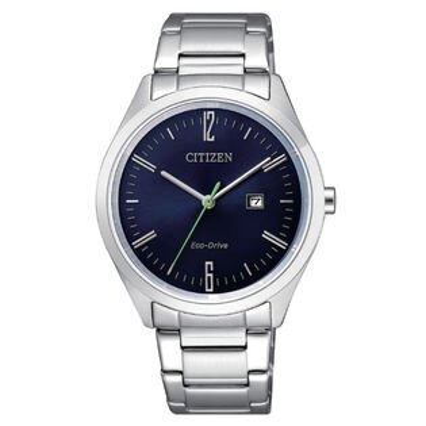 CITIZEN星辰錶EW2450-84L現代簡約光動能腕錶藍面35mm