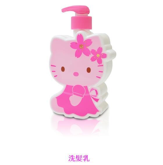 【Aguchi 亞古奇】☆Hello Kitty☆ 凱蒂貓櫻花造型SPA 洗沐禮盒(1洗髮1沐浴) 2