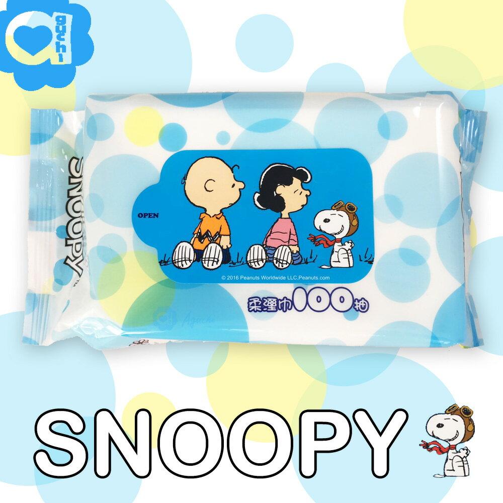 SNOOPY 史努比純水柔濕巾/濕紙巾 100 抽 美國 Snoopy 授權台灣製造
