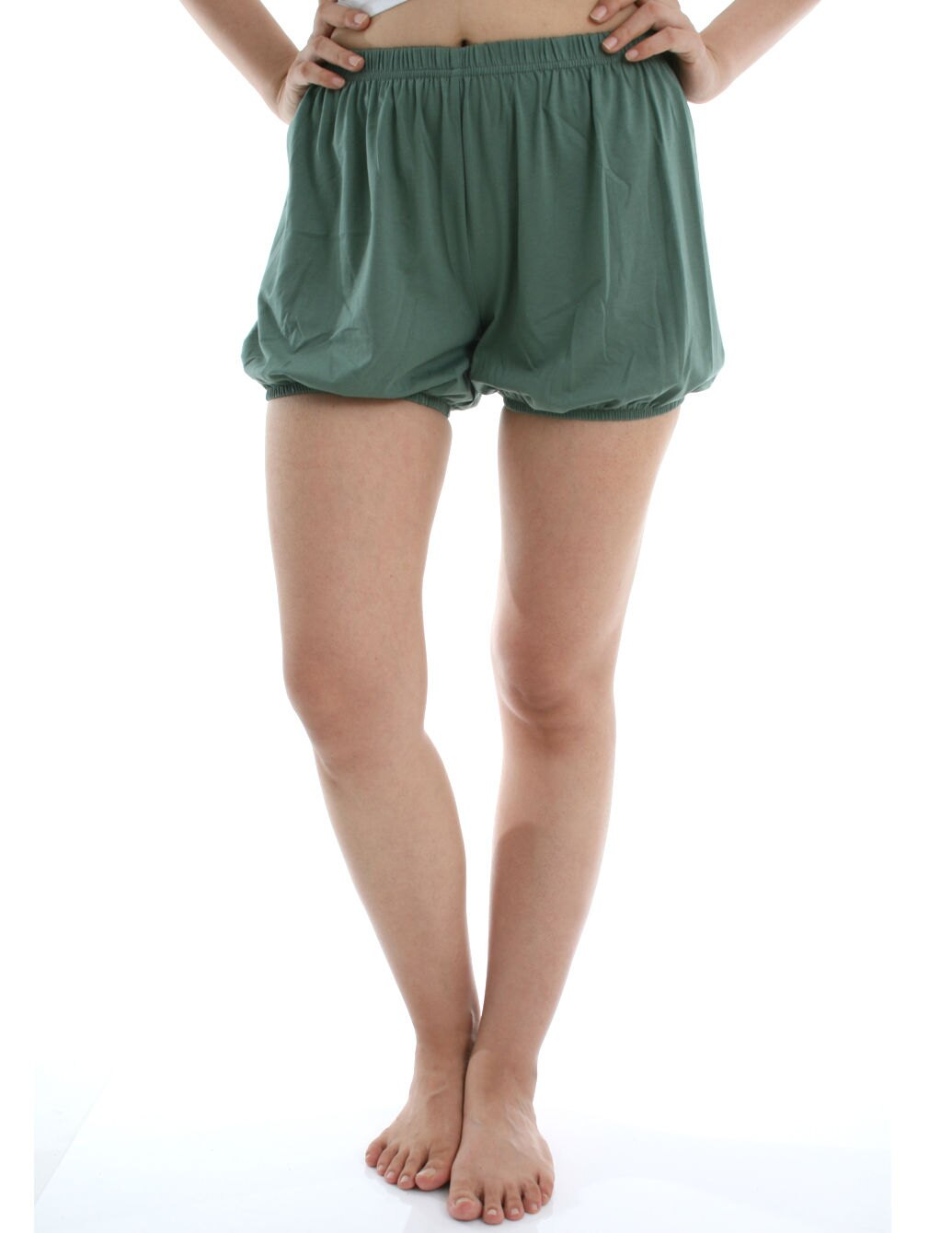 360度全方位防走光! RTBU瑜珈褲~燈籠褲造型。藻綠