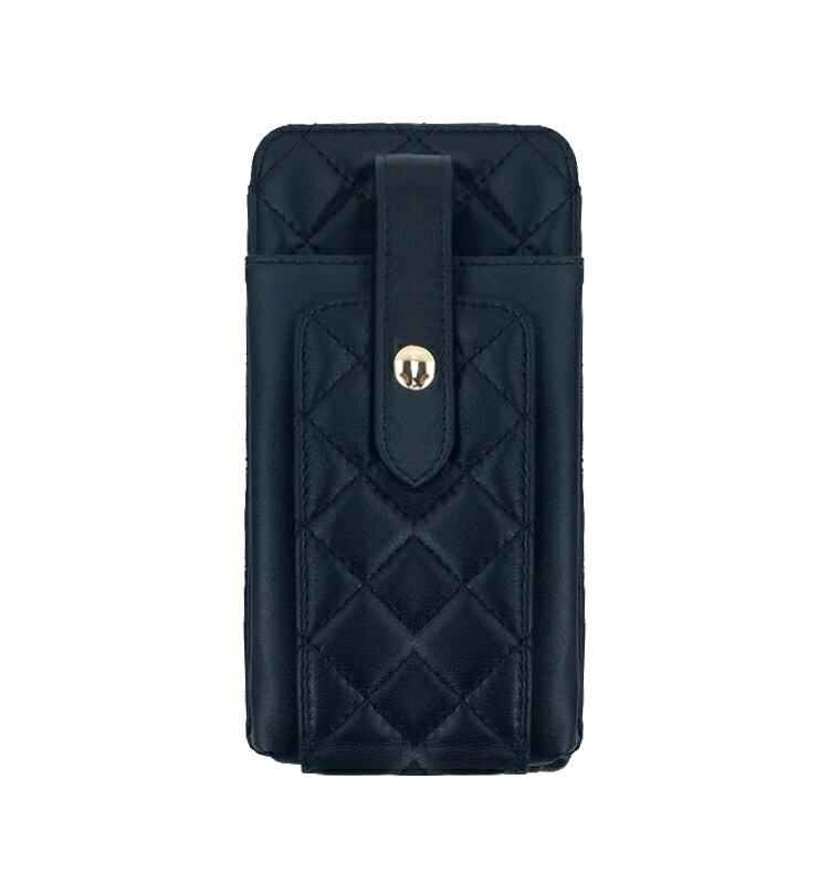 【喜番屋】真皮羊皮菱格女士鍊條包手機包肩背包小包女包【LB707】