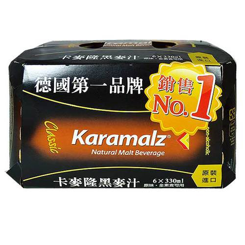 Karamalz 德國進口黑麥汁(易開罐) 330ml (6入)/組
