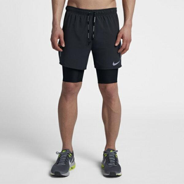 NIKEDISTANCE男裝2-IN-1短褲慢跑訓練多口袋網布透氣黑【運動世界】892892-010