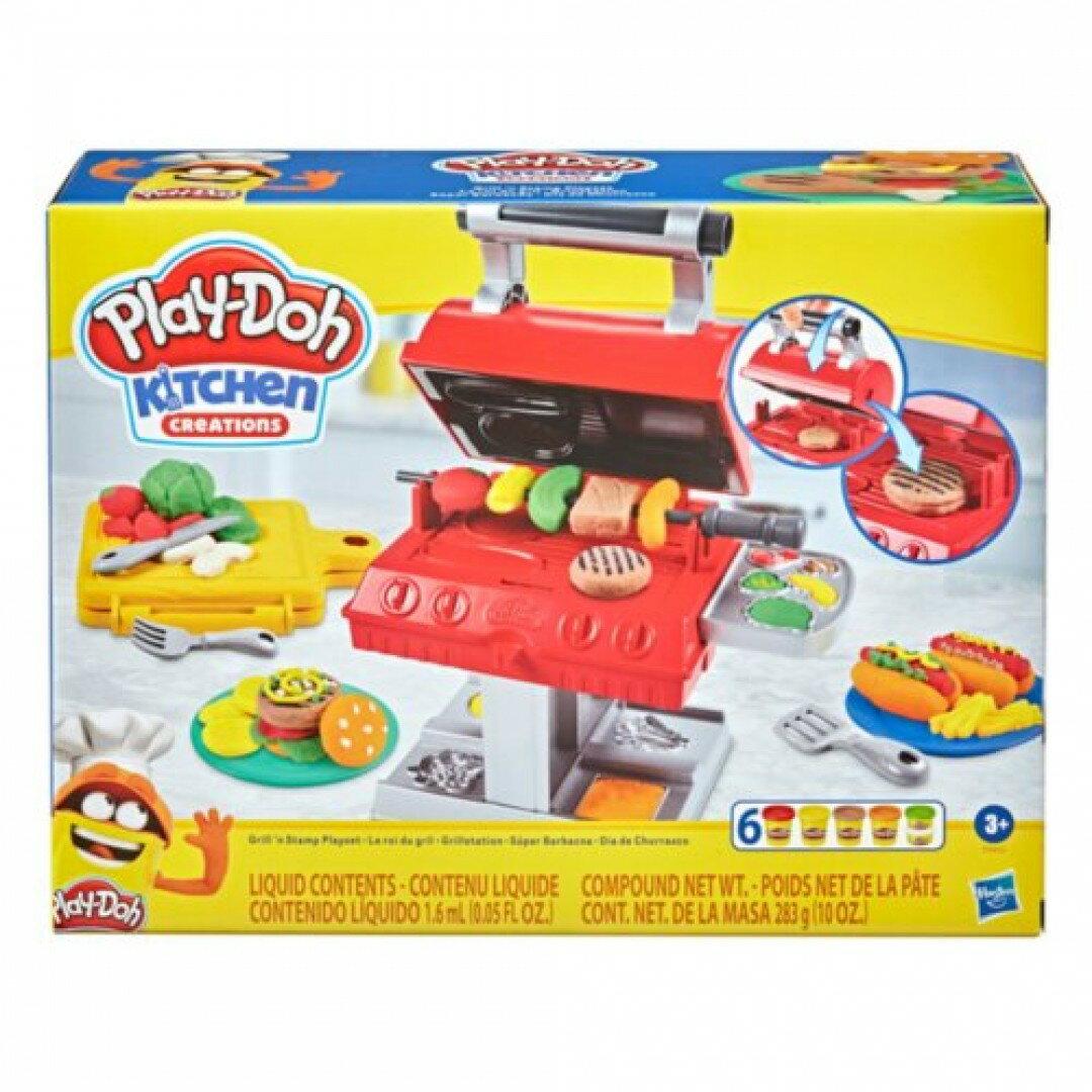 《Play-Doh 培樂多》 黏土 廚房系列 BBQ美式烤肉遊戲組 東喬精品百貨