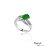 大東山珠寶 星星奇蹟 天然緬甸正陽綠A貨翡翠 頂級真鑽18K白金戒 0
