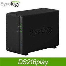 群暉 Synology DiskStation DS216play Atom 雙核1.5GHz/1G/2Bay/USBx2/1/1LAN DS216PLAY
